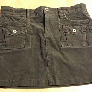 Old navy gray stretch corduroy skirt